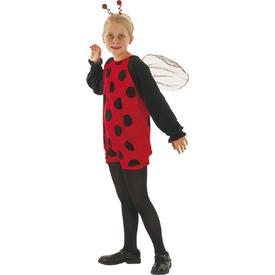 Parti Paketi Uğur Böceği Kostümü, 4-6 Yaş Kız Çocuk Kostümleri