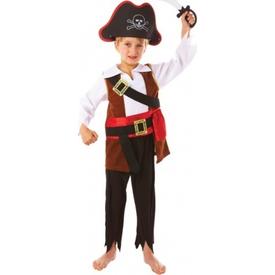 Parti Paketi Korsan Kostümü Ve Aksesuarlar 3-5 Yaş Erkek Çocuk Kostümleri