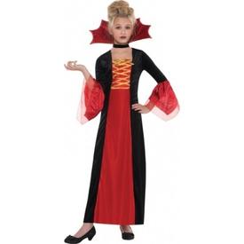 Parti Paketi Vampirella Kostümü, 4-6 Yaş Kız Çocuk Kostümleri