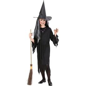 Parti Paketi Cadı Kostümü 8-10 Yaş Kız Çocuk Kostümleri