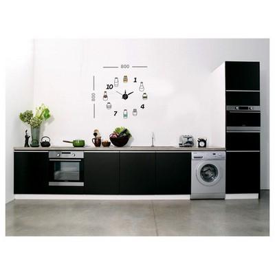 İhouse 10 C 12001 Stickerli  Siyah 80cmx80cm Duvar Saati