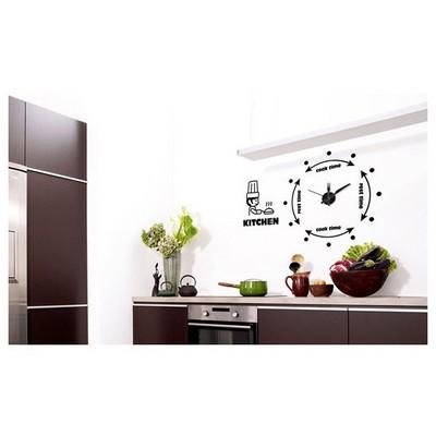 İhouse 10 C 12004 Stickerli  Siyah 100cmx80cm Duvar Saati
