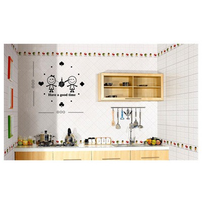 İhouse 10 C 12008 Stickerli Duvar Saati Siyah 80cmx80cm