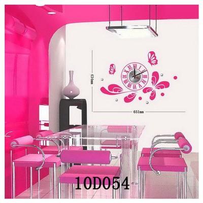 İhouse 10 D 054 Stickerli Duvar Saati Pembe 65cmx43 Cm
