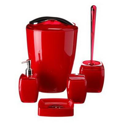 İhouse 1015kr Akrilik -kırmızı Banyo Seti
