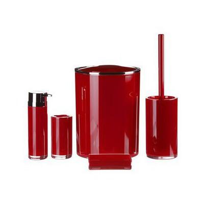 İhouse 1019kr Akrilik  5 Parça Kırmızı Banyo Seti