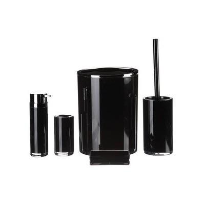 ihouse-1019sy-akrilik-banyo-seti-5-parca-siyah
