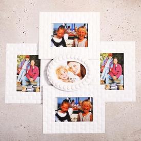 İhouse 11510 Dekoratif Çoklu Çerçeve Beyaz Çerçeve / Albüm