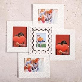 İhouse 11516 Dekoratif Çoklu Çerçeve Beyaz Çerçeve / Albüm