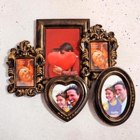 İhouse 11521 Dekoratif Çoklu Çerçeve Gold Çerçeve / Albüm