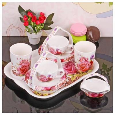 İhouse 11801 Porselen Kahve Ikram Seti Beyaz Çay Seti