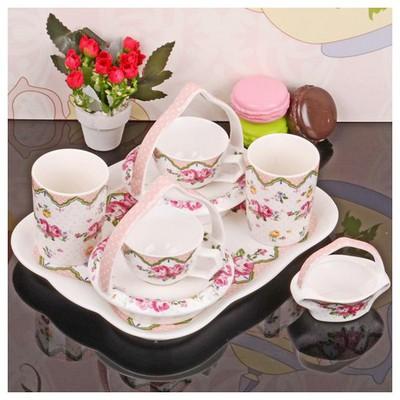 İhouse 11802 Porselen Kahve Ikram Seti Beyaz Çay Seti
