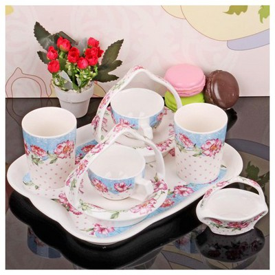 İhouse 11803 Porselen Kahve Ikram Seti Beyaz Fincan Takımı