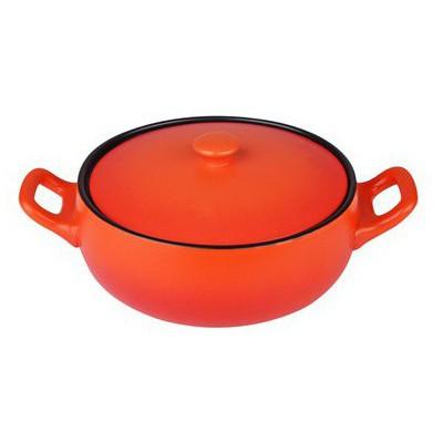 İhouse 14703-güveç Basık -turuncu Tencere