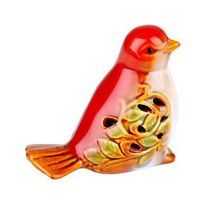 İhouse 21086 Kuş Figürlü Biblo Kırmızı Dekoratif Ürünler