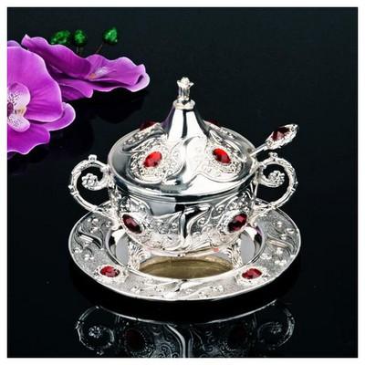 İhouse 24321 Gümüş Şekerlik Gümüş Dekoratif Süs