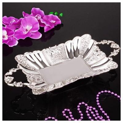 İhouse 25018 Gümüş Çikolatalık Gümüş Dekoratif Süs