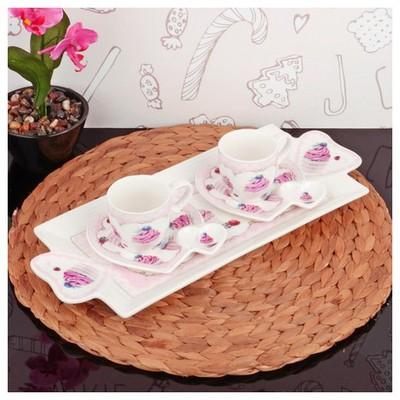 İhouse 2506 Porselen 2 Li Kahve Ikram Seti Beyaz Çay Seti