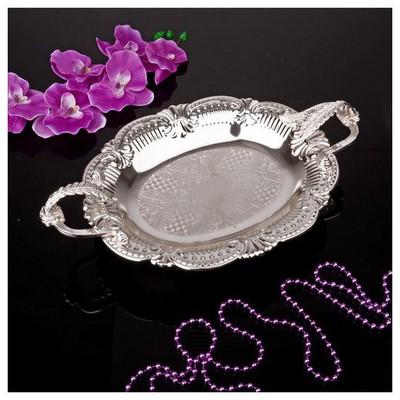 İhouse 25078 Gümüs Cikolatalık Gümüş Dekoratif Süs