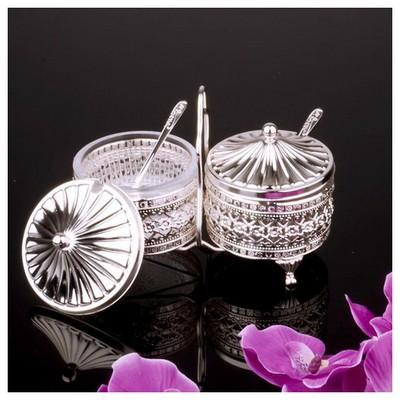 İhouse 25135 Gümüs Sekerlik Gümüş Dekoratif Süs
