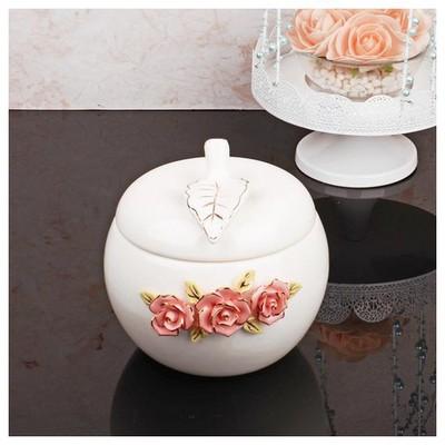 İhouse 27508 Porselen Sekerlik Beyaz Dekoratif Süs