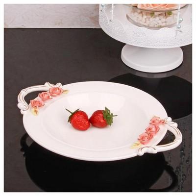 İhouse 27514 Porselen Meyvelik Beyaz Tabak