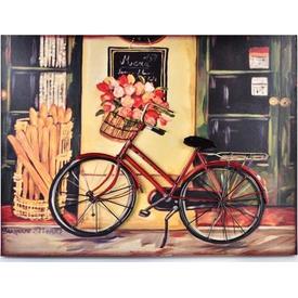 İhouse 39004 3 Boyutlu Metal Kabartma  Kırmızı Tablo