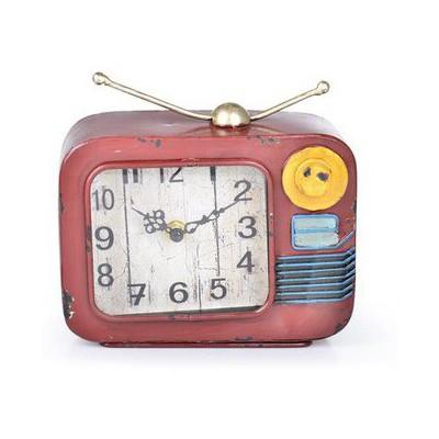 İhouse 39007 Dekoratif Metal Saat Narçiçeği Duvar Saati