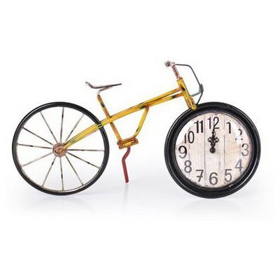 İhouse 39010 Dekoratif Metal Saat Sarı Duvar Saati