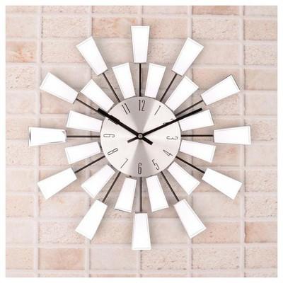 İhouse 4213 Dekoratif  Gümüş Duvar Saati