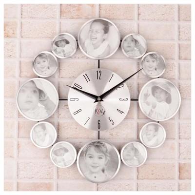 İhouse 4218 Dekoratif  Gümüş Duvar Saati