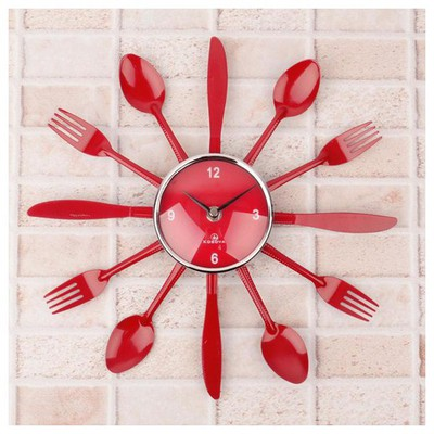 İhouse 4244 Dekoratif  Kırmızı Duvar Saati