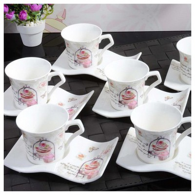 İhouse 4309 Porselen Fincan Seti Beyaz Çay Seti