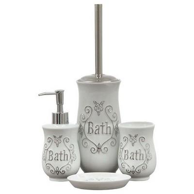 İhouse 49907 Porselen 5 Parça Banyo Seti Beyaz Banyo Gereçleri