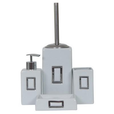 İhouse 49928 Porselen 5 Parça  Beyaz Banyo Seti