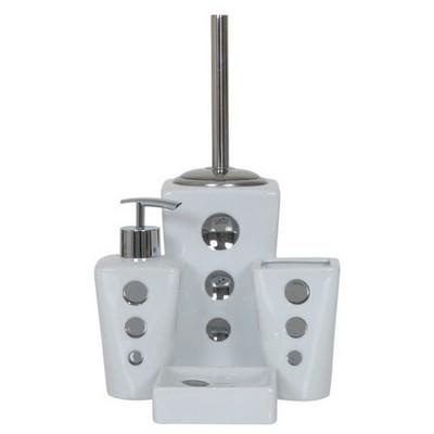 İhouse 49930 Porselen  Beyaz Banyo Seti