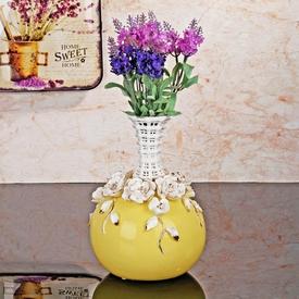 İhouse 52838 Seramik Dekoratif  Sarı Vazo