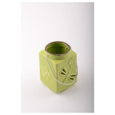 İhouse 53318y Dekoratif  Yeşil Mumluk