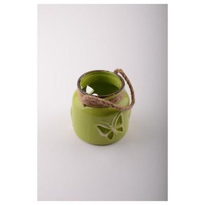 İhouse 53611y Dekoratif Mumluk Yeşil Dekoratif Ürünler