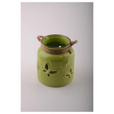 İhouse 53612y Dekoratif Mumluk Yeşil Dekoratif Ürünler