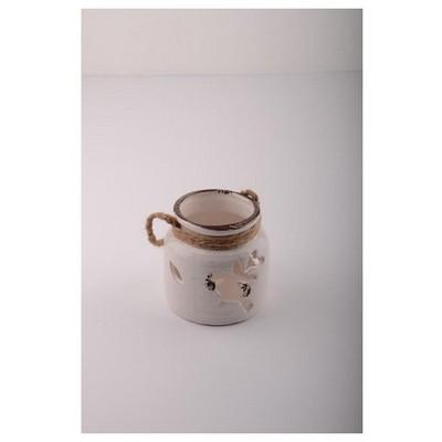 İhouse 53613 Dekoratif Mumluk Beyaz Dekoratif Ürünler