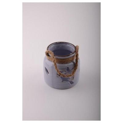 İhouse 53613l Dekoratif Mumluk Lila Dekoratif Ürünler