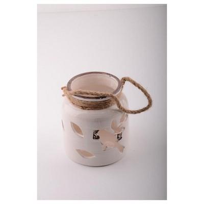 İhouse 53614 Dekoratif  Beyaz Mumluk