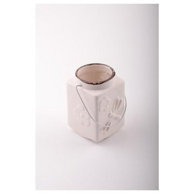 İhouse 53618b Dekoratif  Beyaz Mumluk
