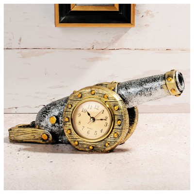 ihouse-54215-dekoratif-masa-saati-gumus