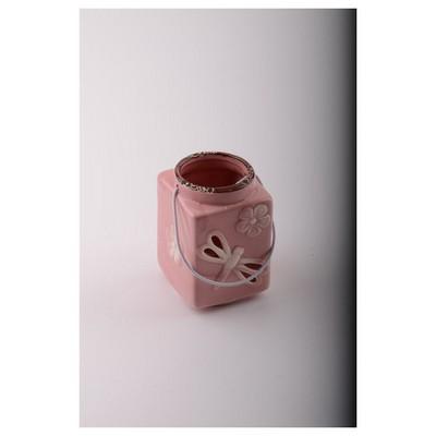 İhouse 56317p Dekoratif Mumluk Pembe Dekoratif Ürünler