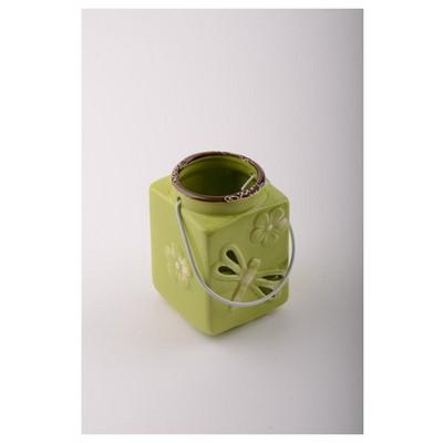 İhouse 56317y Dekoratif  Yeşil Mumluk