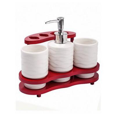 İhouse 5652 Seramik Sabunluk Beyaz Banyo Aksesuarı
