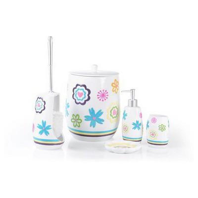 İhouse 59004 Polyester 5 Li  Beyaz Banyo Seti