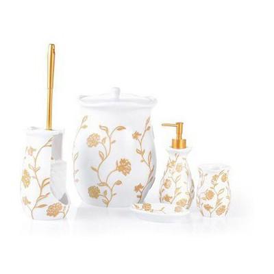 İhouse 59007 Polyester 5 Li Banyo Seti Beyaz